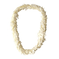 Flat Ginger Lei (White)