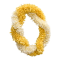 Ginger Lei (Two Triple Twist, Yellow and White)