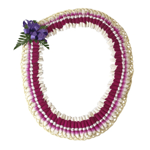Micronesian Ginger Lei with Purple Orchid