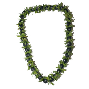 Kukui Nut with Ficus Lei (Black)