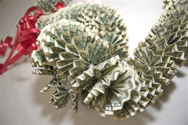ORIGAMI MONEY LEIS