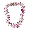 Orchid Lei (Single, Purple & White)