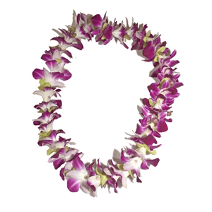 Orchid Lei (Single, Various Colors)