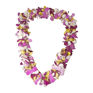 Orchid Lei (Double, Various Colors)
