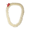 Fancy Spiral Orchid Lei (White)