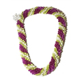 Fancy Orchid Lei (Tri-Color)