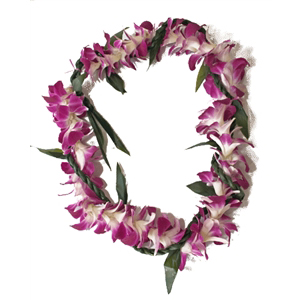 Ti Leaf Lei with a Twist of Orchid