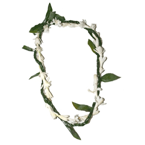 Ti Leaf Lei with a Twist of Tuberose